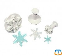 Snowflakes 3 pcs Oversized Plunger Cutter
