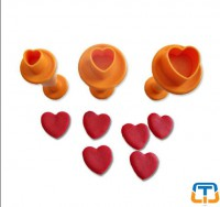 Heart 3pcs Small Size Plunger Cutter