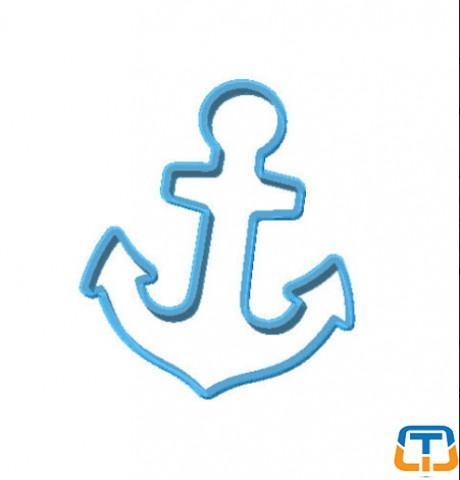 Anchor Polycarbonate Cookie Cutter