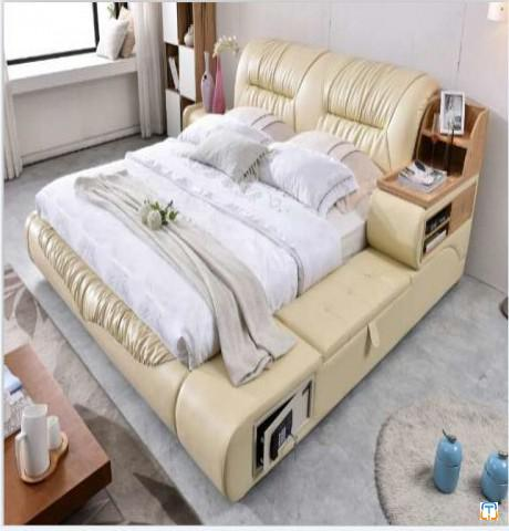 Tatami bed for bedroom sets with Safety deposit box add pneumatic cabinet bed