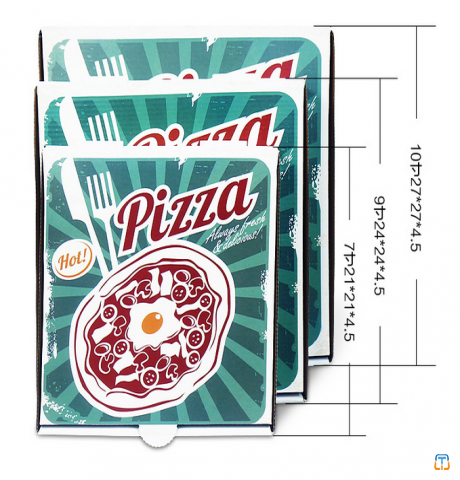 "pizza box for food packaging 7"" 9""12"" with food material corrugated box"