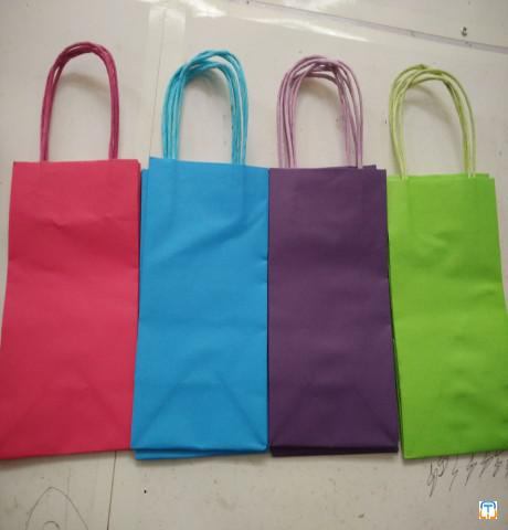 Shopping gift paper bag with cotton rope lamination for cosmetics packaging watch jewellery pack