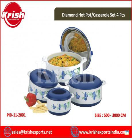 Diamond Hot Pot/Casserole Set 4 Pcs