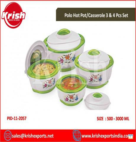 Polo Hot Pot/Casserole 3 & 4 Pcs Set