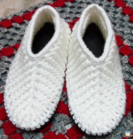 crochet slippers , half boots