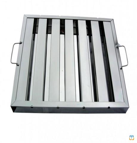 Commercial kitchen stainless steel baffle grease filter