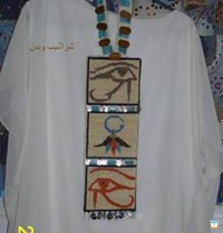 Egyptian cross stitches neckwear عقد تراثى فرعونى