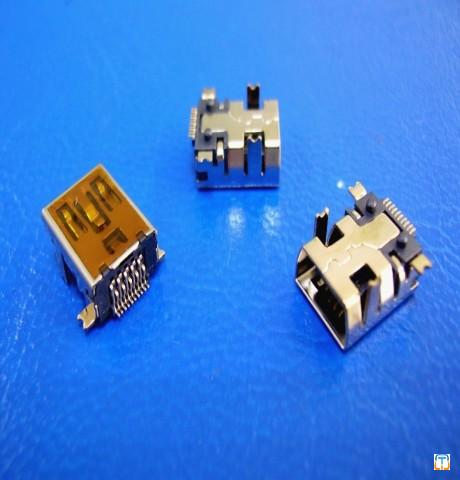 Mini USB 10P Female Connector, SMT type