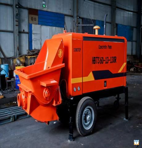 60 cubic diesel Trailer Mounted Concrete Pump from factory sale!