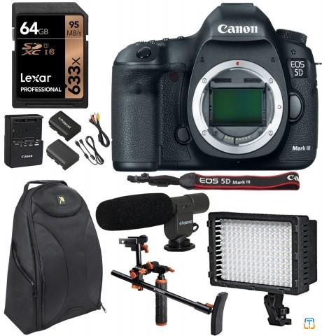 Canon 5D Mark III 22.3MP Full Frame CMOS 1080p HD Video Mode Digital SLR Camera Body, Polaroid C