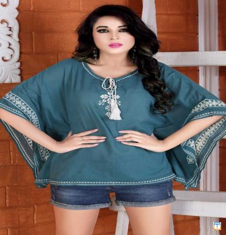 Pure cotton Embroidery Short top