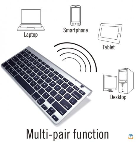 Compact Multi-Device Bluetooth PC / Mac Compatible Keyboard