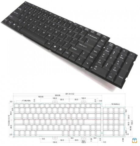 Desktop / Industrial 2 Zone Keyboard Module
