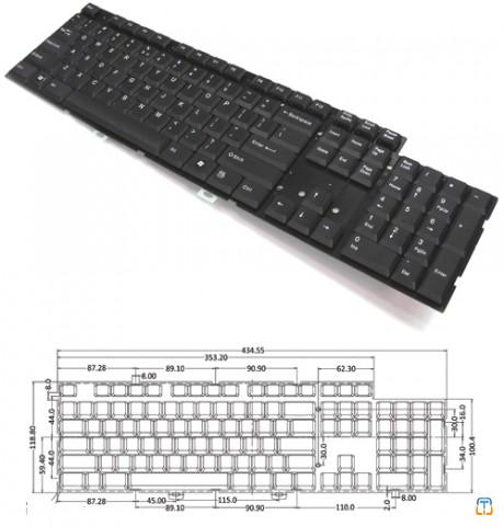Desktop / Industrial Full Size Keyboard Module