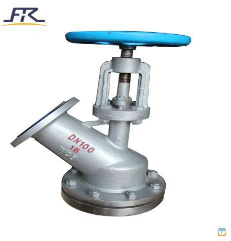 Manual Operation Tank Bottom Angle Valve ,Bottom Outlet Valves,vessel bottom valve,flush bottom