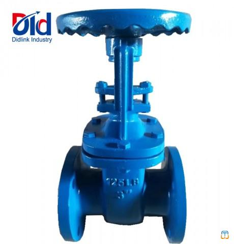 Flanged Flat Part PN16 Wheel Handle With Cast Iron Gate Valve