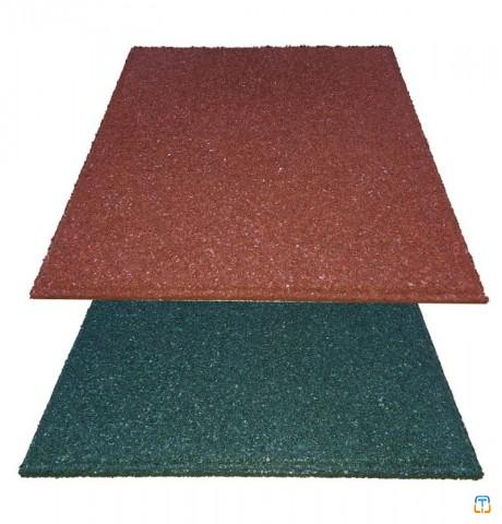 Rubber flooring and tiles from recycled tires