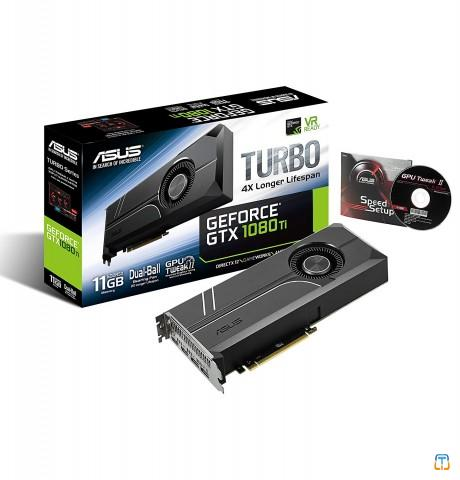 ASUS GeForce GTX 1080 TI 11GB Turbo Edition VR Ready 5K HD Gaming HDMI DisplayPort PC GDDR5X Gra