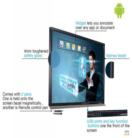 70 Inch Ultra HD Interactive Touch Screen Monitor