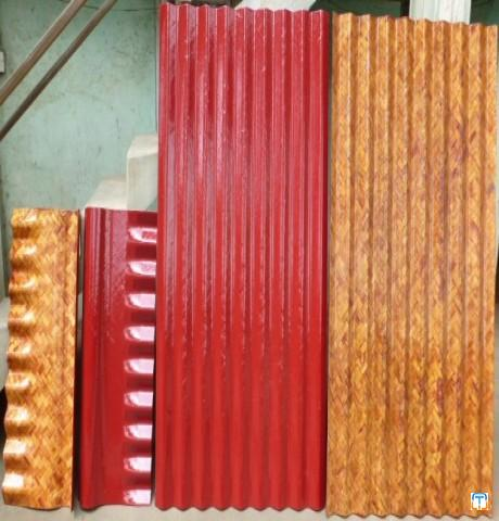 Bamboo Mat Corrugated Sheets