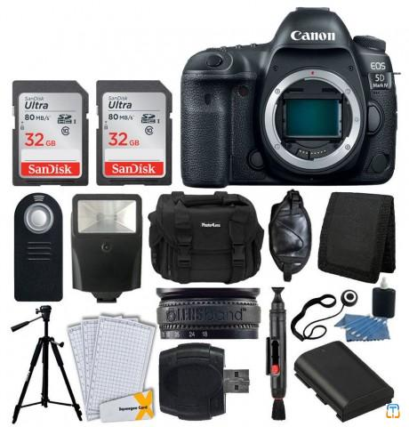 Canon EOS 5D Mark IV DSLR Camera Body +64GB +Extra Battery +Complete Value Kit