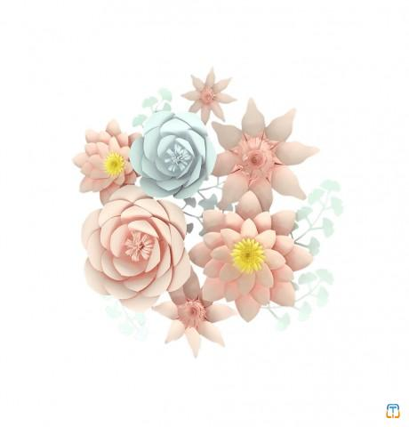 Paper Crafts Decoration Flower Wall Backdrop