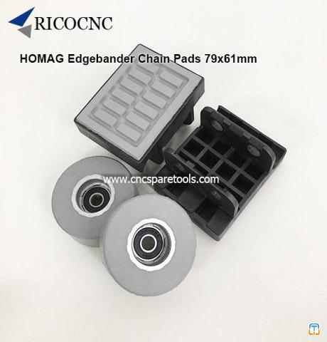 79x61mm HOMAG Edgebander Track Pads Conveyor Chain Pads for Brandt Edgebanding Machine