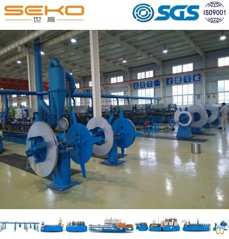 Bright Annealed Coiled Stainless Steel Heat Exchanger Pipe Machine Line