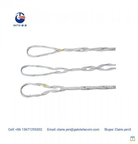 Preformed helical deadend anchoring tension clamp