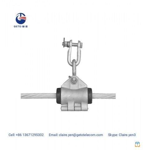 Preformed helical suspension clamps