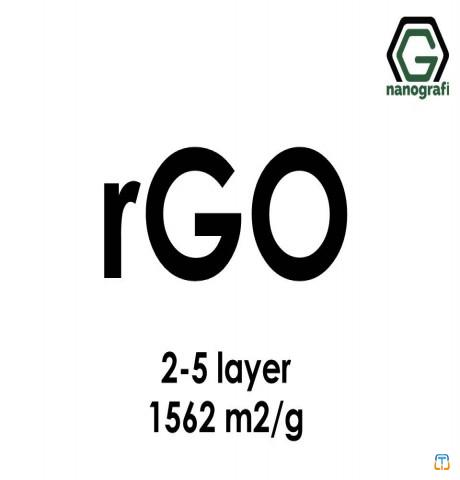 Reduced Graphene Oxide (rGO), S.A: 1562 m2/g, 2-5 layers