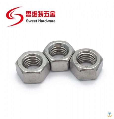 DIN934 stainless steel 304 hex nut carbon steel zinc plated nut