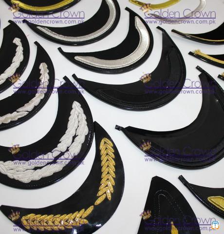 Bullion wire Embroidered Peak, Bullion Wire Embroidery Peak Supplier