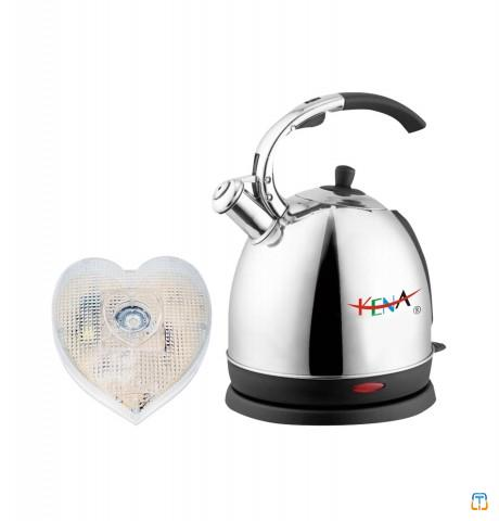Stainless Steel Manufacturer Electric Kettle with Voice and LED Flash Prompt