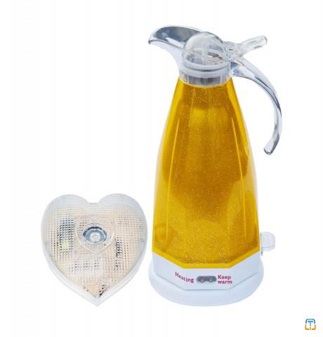 2.0L Yellow Electric Kettle with Voice and LED Flash Prompt for the Blind Deaf Low Vision