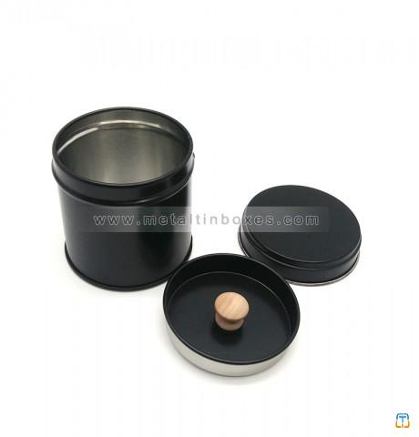 Portable small round metal tea can airtight tea coffee tin tea container