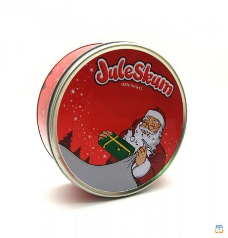 Metal Christmas Cake Biscuit Tin Container